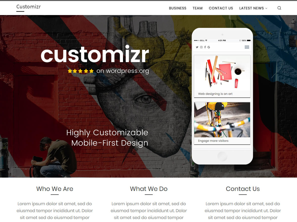 Customizr is een strak responsief thema